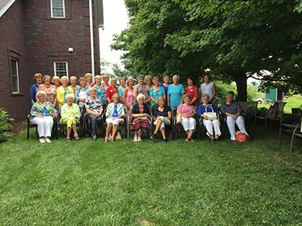 Thirty members of the Kentucky Master Farm Homemakers Guild attended the summer meeting hosted by Wanda and Wayne Hawkins at Carlile Acres Farm in Shelby County, August 2016.