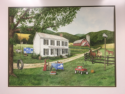 "The KEHA commissioned Mr. John Ward of Mount Sterling to paint a commemorative ""80th Anniversary"" Print in 2012. This beautiful, colorful work of art could fit in any homemaker's home in Kentucky."