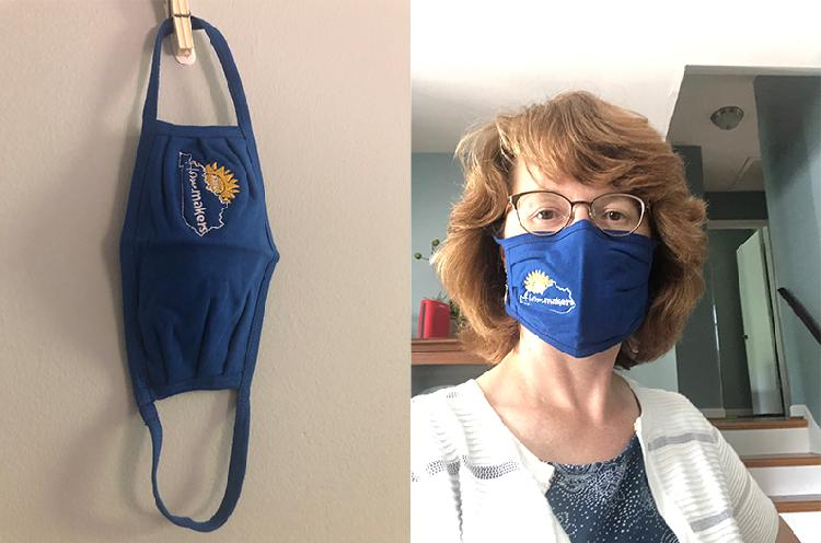 Embroidered Cloth Facemask - $7.00
