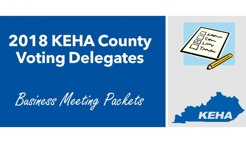 2018 KEHA Business Meeting Packets