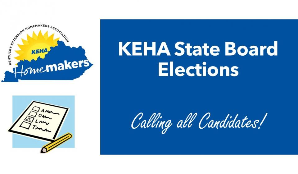 KEHA Recruiting State Officer and Chairman Candidates