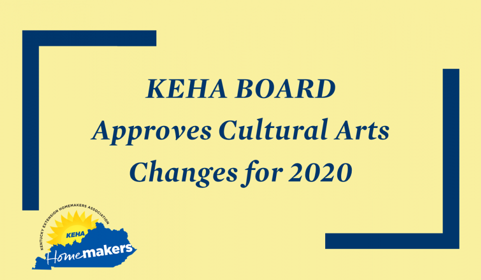 KEHA Approves Cultural Arts Changes for 2020