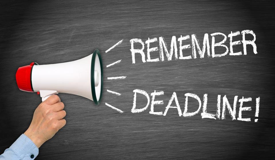 Contests, Scholarship and Grant Deadlines Approaching