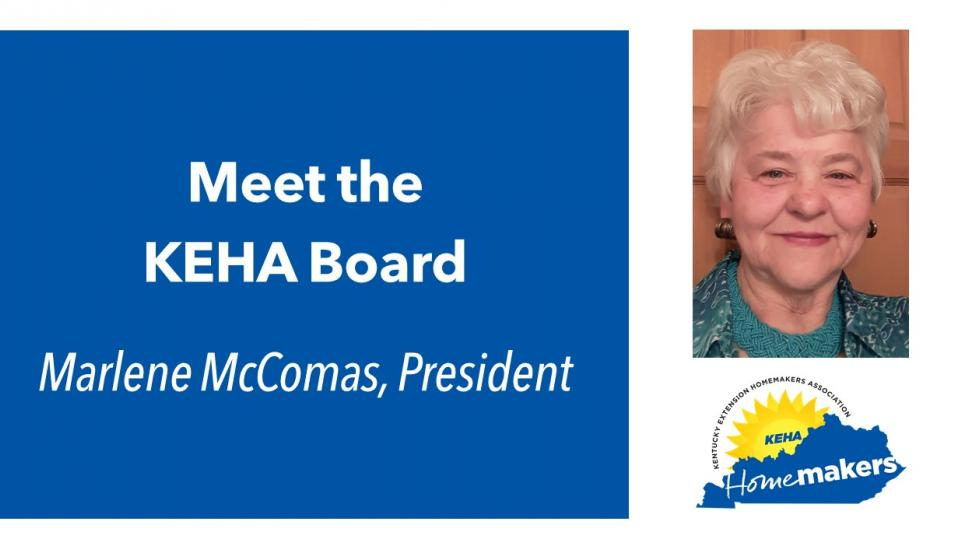 Meet Your KEHA Board – Marlene McComas, President, 2017-2019