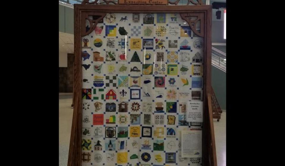 State's 2020 census quilt arrives at its final destination